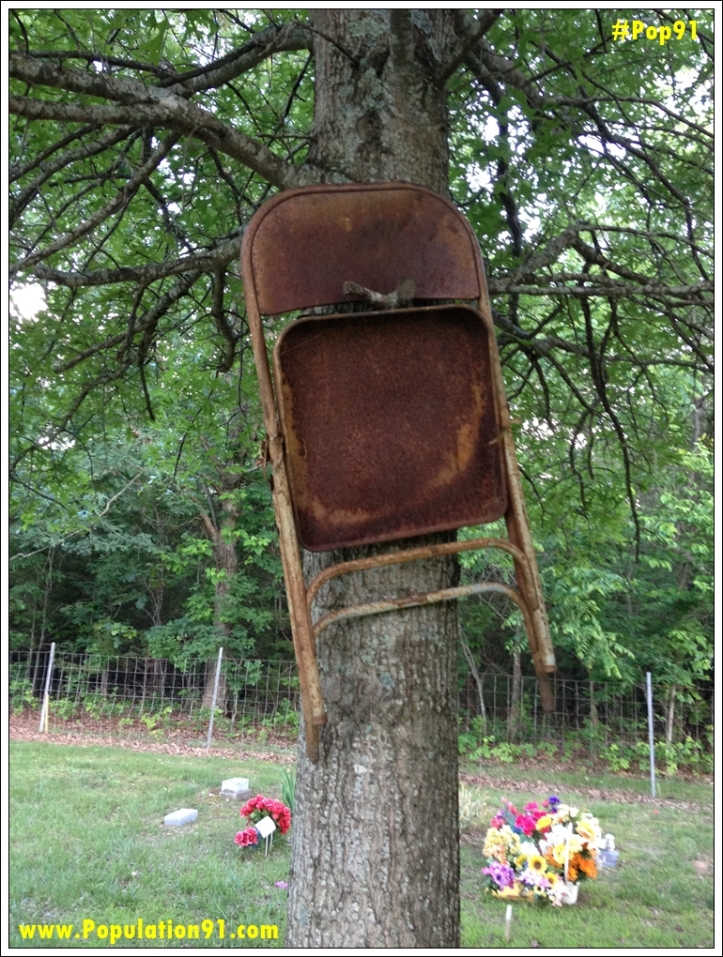 Chair In Tree- Brookshire Cemetery, Phelps County MO