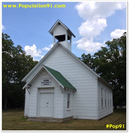Zion Methodist Church, established in 1894, in Dent County, Missouri.