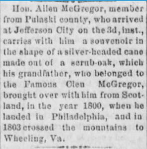 Richmond, MO. Democrat 3 February, 1881