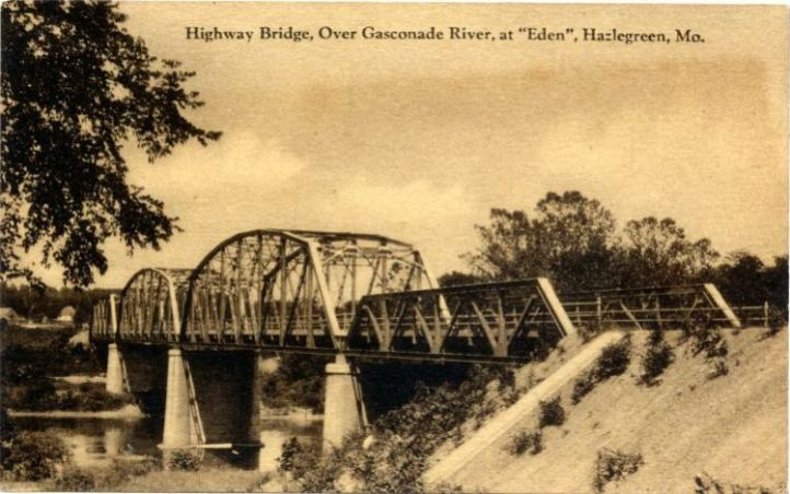 Hazelgreen Route 66 Bridge, courtesy of Joe Sonderman/www.66postcards.com