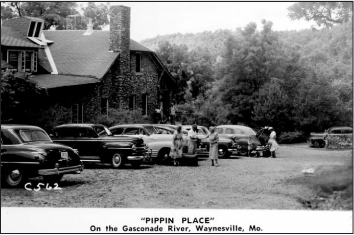 Pippin Place, on the Gasconade River, Waynesville, Missouri. Courtesy of Terry Primas/Old Stagecoach Stop Foundation.