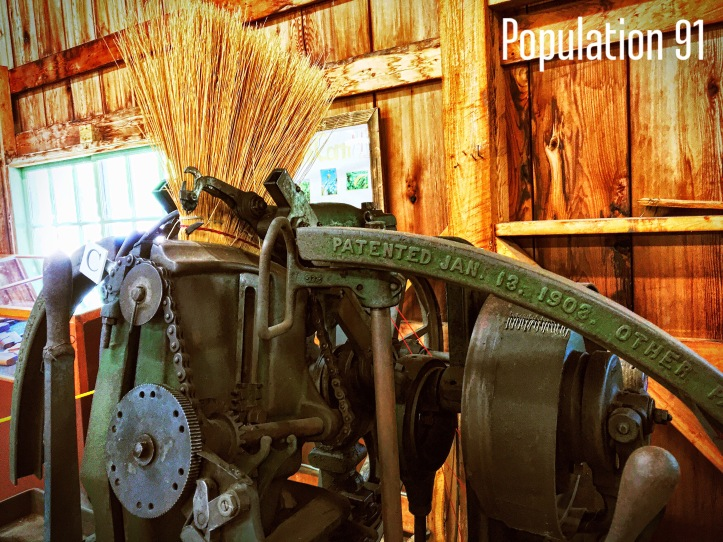 Broom machine at Ozark Agriculture Museum. Image by Laura (Abernathy) Huffman for Population 91.