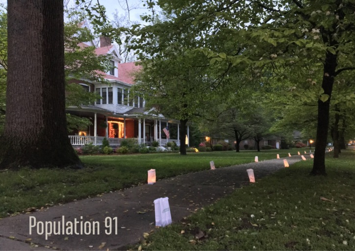 Charleston's Main Street at dusk during the Dogwood-Azalea Festival. Image by Laura (Abernathy) Huffman for Population 91.