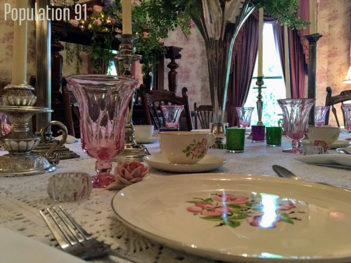 The dining room at the Moore Home in Charleston, Missouri. Image by Laura (Abernathy) Huffman for Population 91.