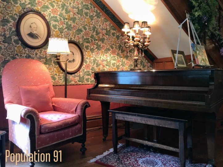 A piano on the first floor of the Moore Home in Charleston, Missouri. Image by Laura (Abernathy) Huffman for Population 91
